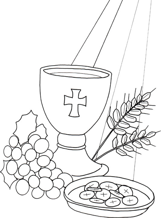 Eucharist Holy Communion Communion Coloring Pages
