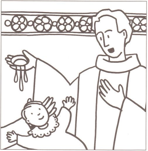 sacraments of the catholic church coloring pages - photo #38