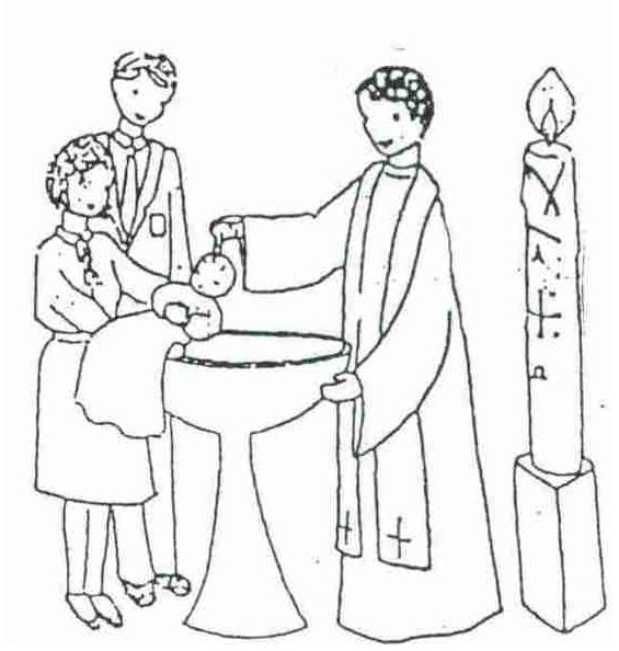 sacrament of baptism holy baptism - Baptism Coloring Pages Printables
