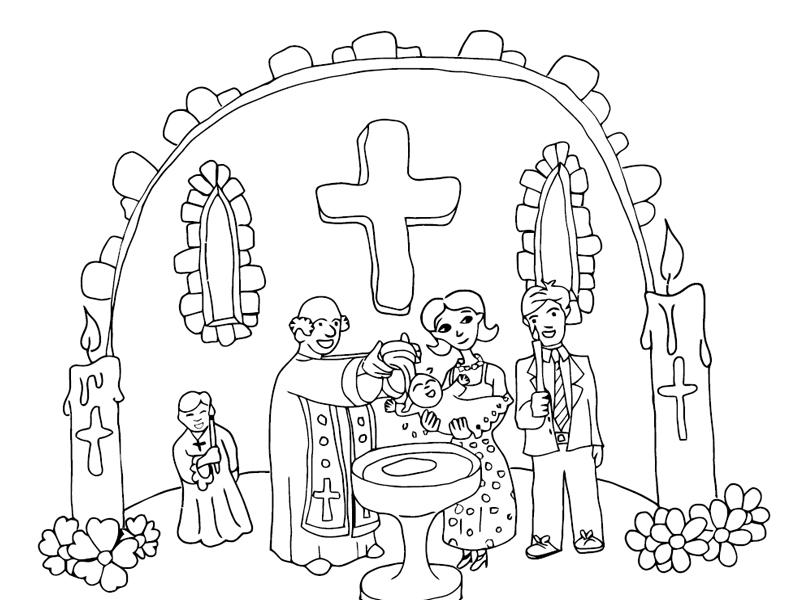 sacrament baptism coloring pages - photo#22