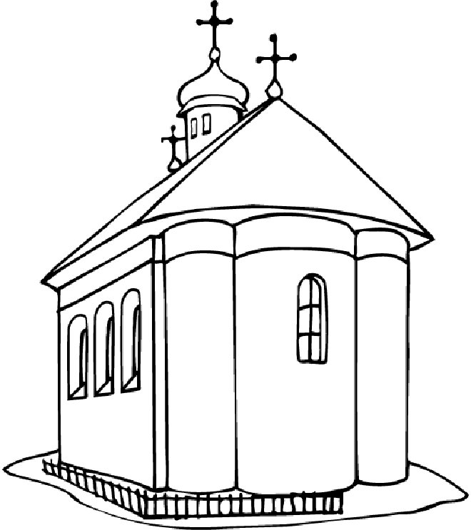 church building coloring pages - photo#29