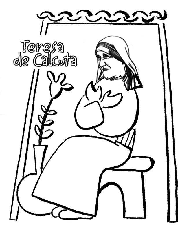 Mother teresa of calcutta for Mother teresa coloring page