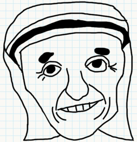 How To Draw Mother Teresa Easily Step By Step Free Download Oasis