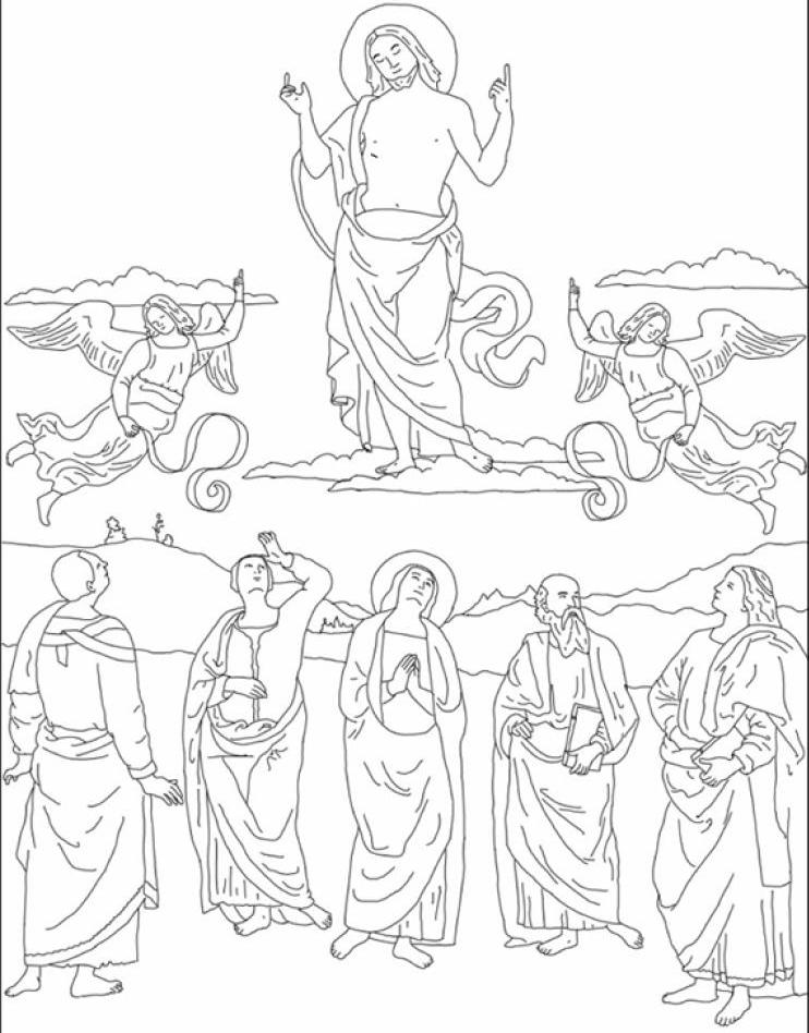 jesus ascension coloring page  28 images  ascension of jesus