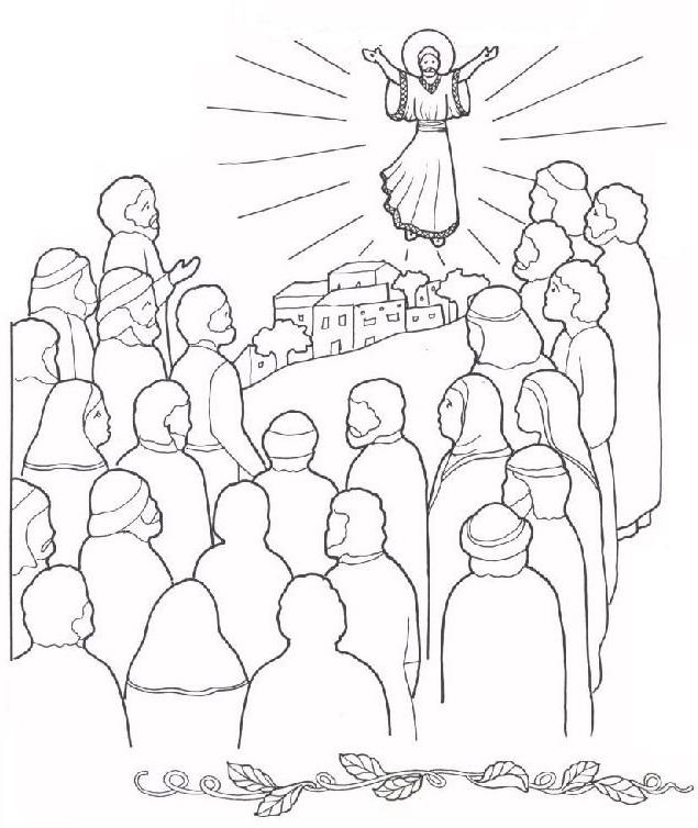 ascension coloring pages of jesus - photo#16