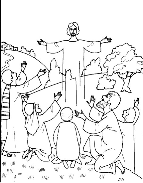 The Ascension Of Jesus Jesus Ascension Coloring Page