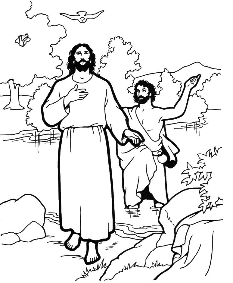 baptism coloring pages - photo#13