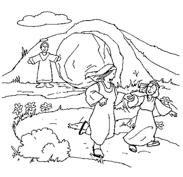 Empty Tomb Easter Coloring Pages Coloring Pages