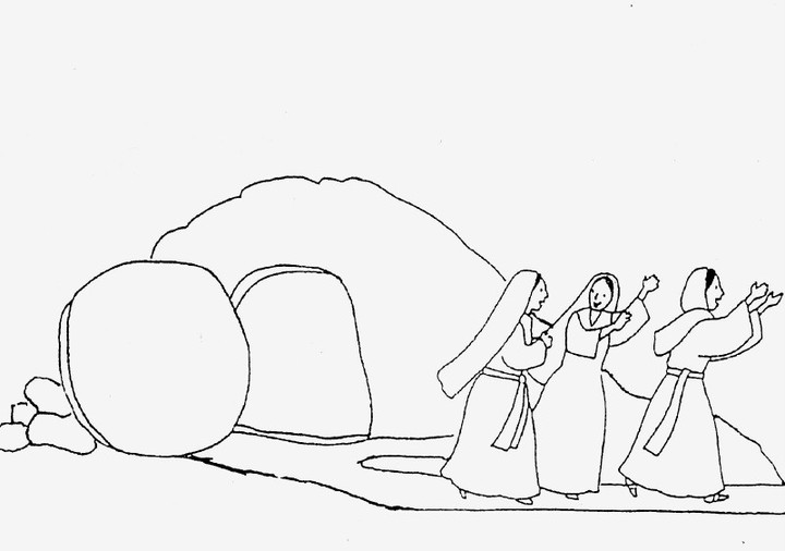 Empty box coloring pages coloring pages for Jesus empty tomb coloring pages