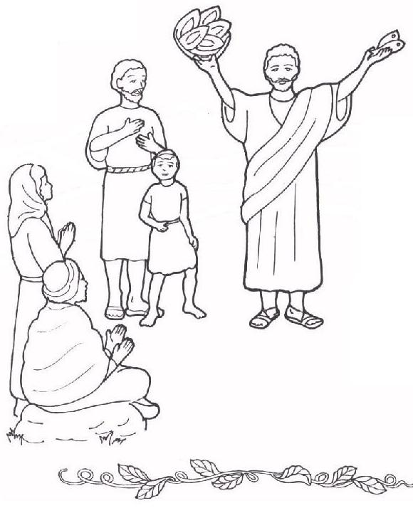 Coloring Pages For Jesus Feeding The 5000 : Free coloring pages of jesus feeds the