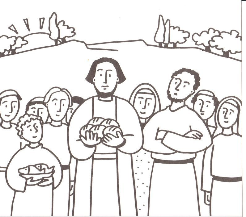Free Feeding The Five Thousand Coloring Pages