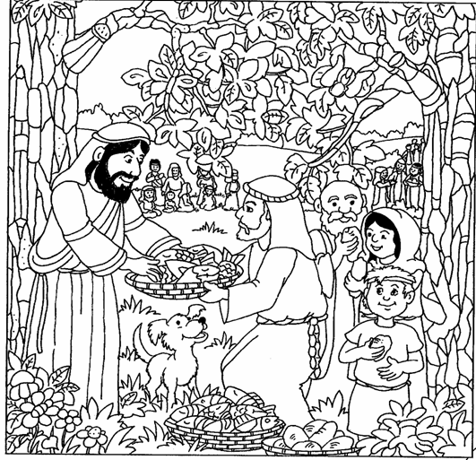 Coloring Pages For Jesus Feeding The 5000 : Free coloring pages of jesus feeding the