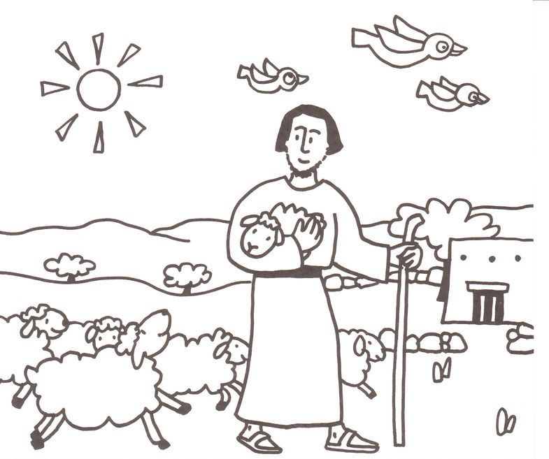 good shepherd coloring pages - photo#34
