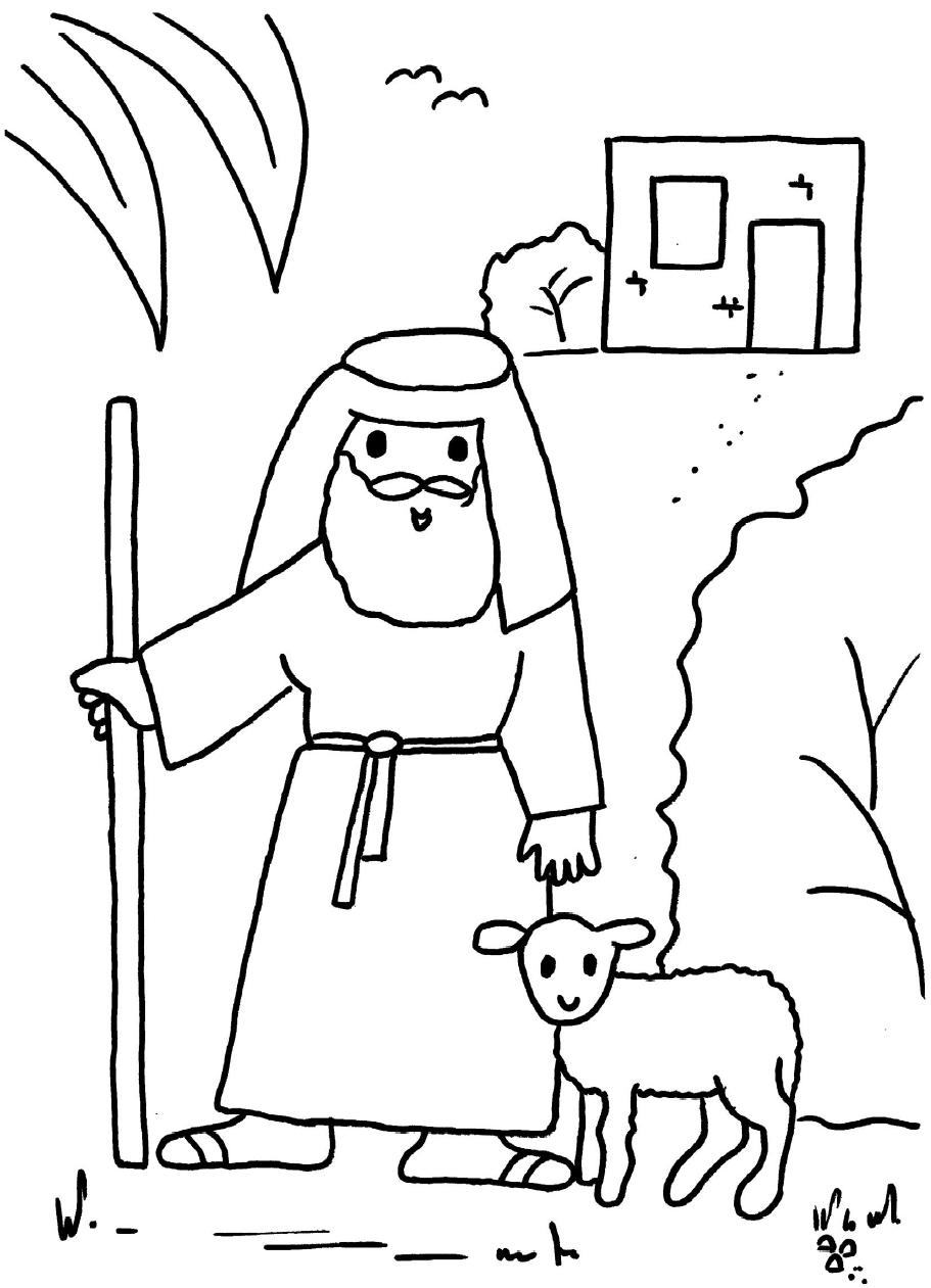 Parable Of The Good Shepherd Coloring Page Coloring Pages