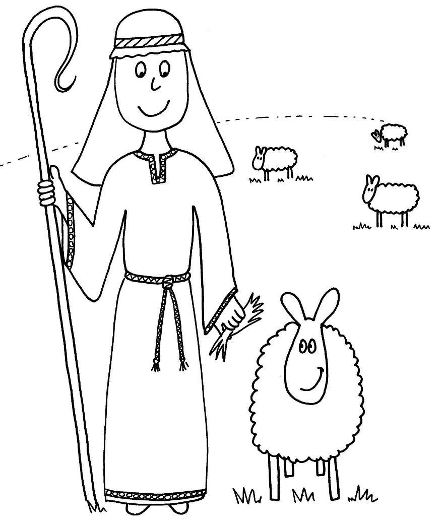 Parable Of The Good Shepherd The Good Shepherd Shepherd Coloring Page