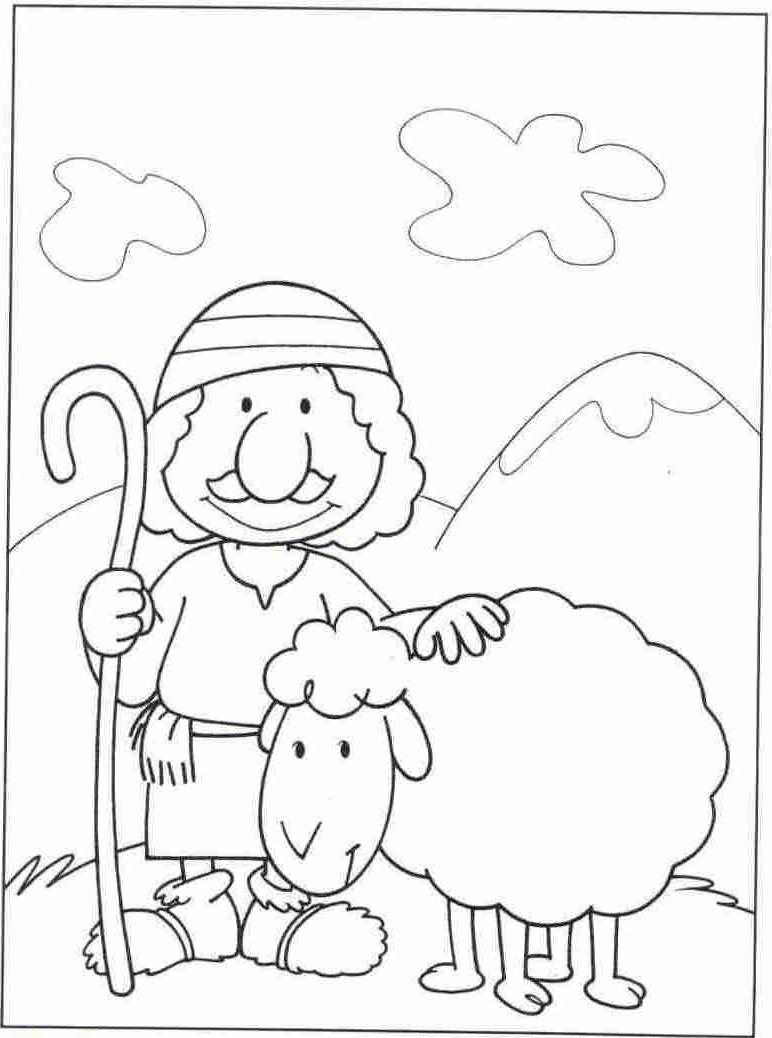 Parable Of The Good Shepherd The Good Shepherd Shepherd And Sheep Coloring Page