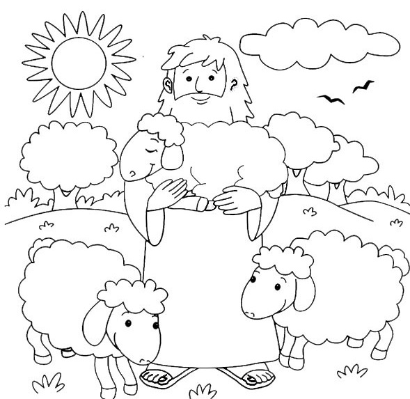 good shepherd coloring pages - photo#7