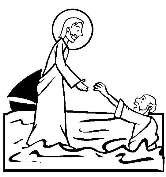 Free Jesus Walking On Water Coloring Pages Walks On Water Coloring Page