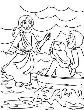 HD wallpapers bible coloring page jesus walks on water android