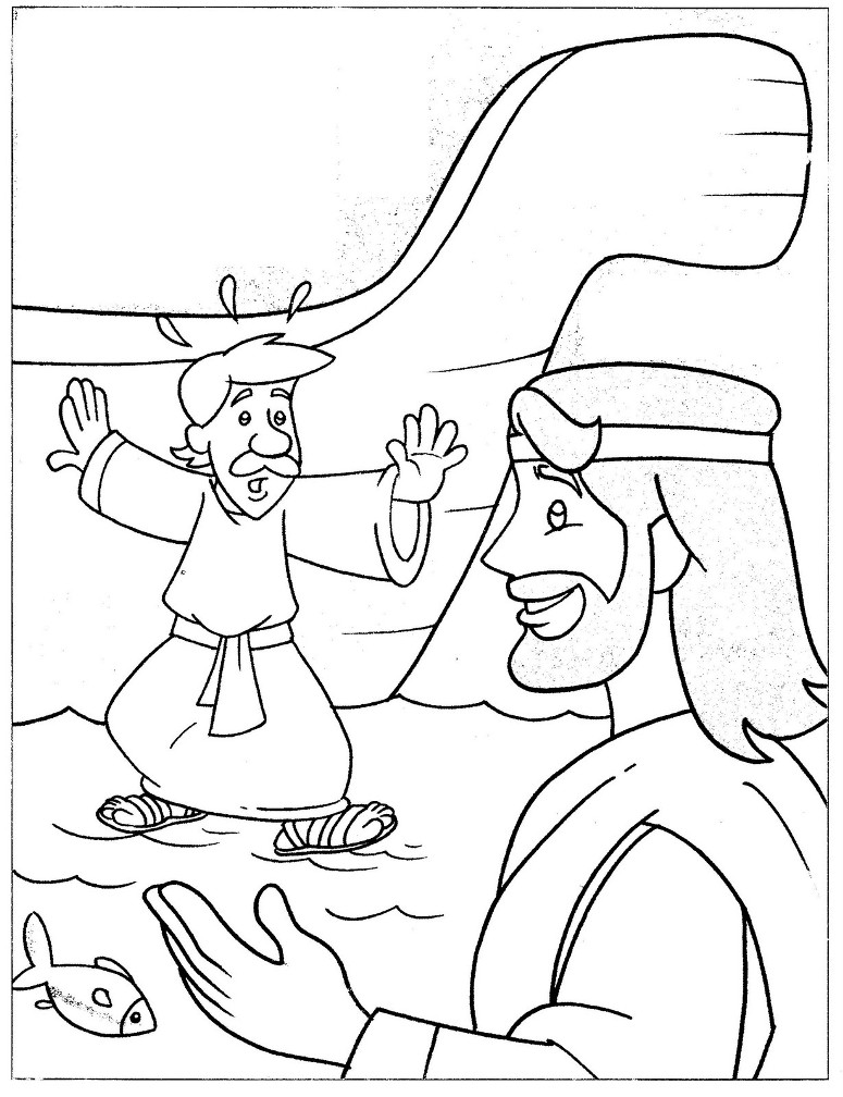 1000 Images About Bible NT Peter Walks On The Water On