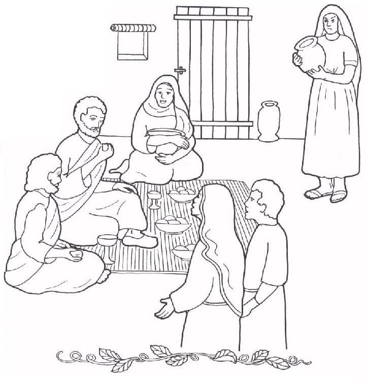 1000 Images About Mary And Martha Coloring Pages On Pinterest