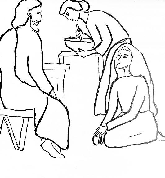 Martha and Mary coloring pages