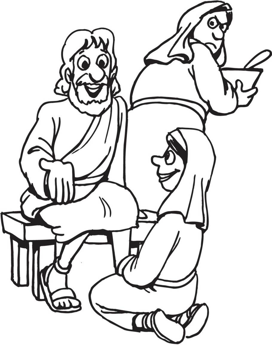 Mary Coloring Pages Martha and mary coloring pages
