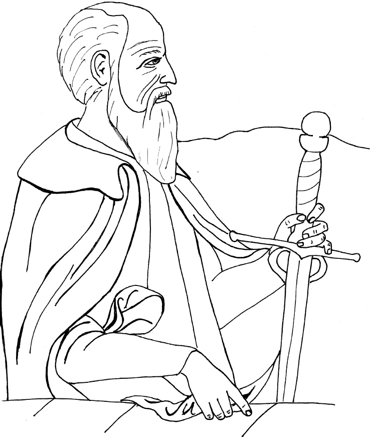 paul coloring pages for kids - photo#20