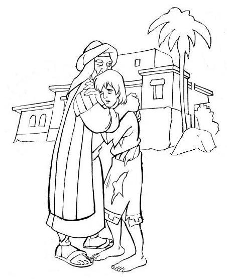 prodigal son coloring pages - photo#6