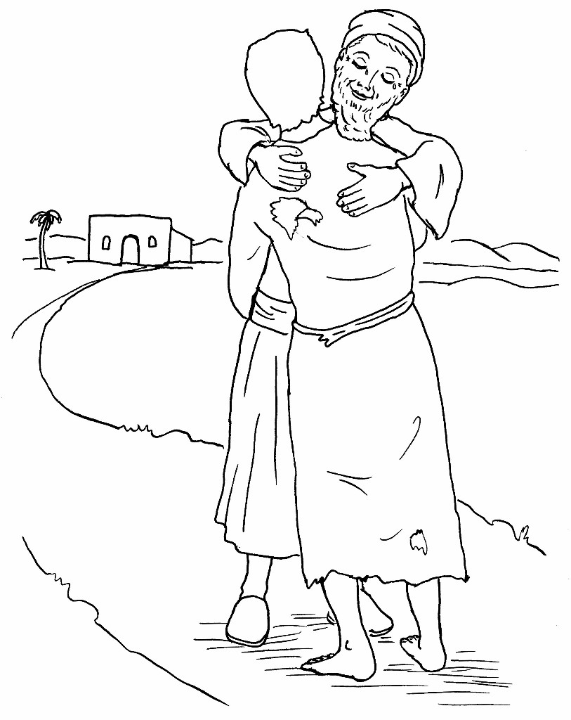 prodigal son coloring pages - photo#14