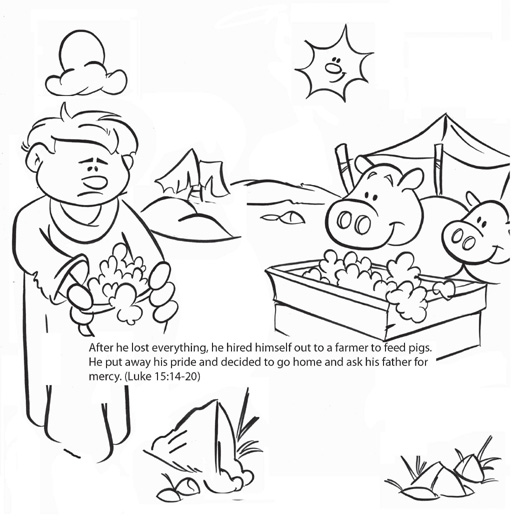 prodigal son coloring pages - photo#16