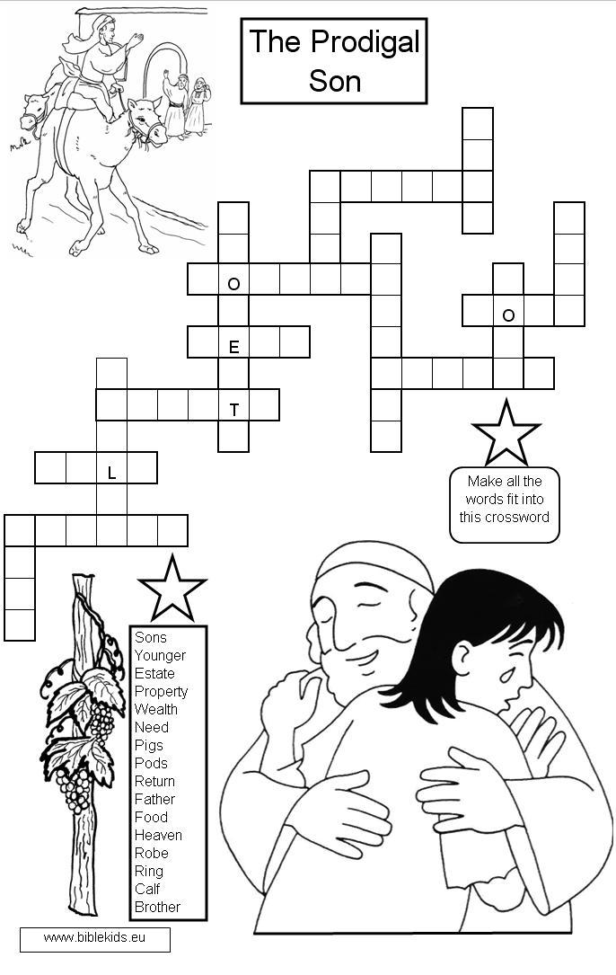Parable of the Prodigal Son coloring pages | The Prodigal Son
