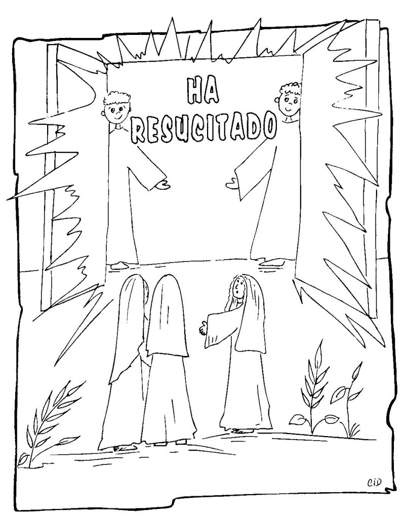 Resurrection of christ coloring pages