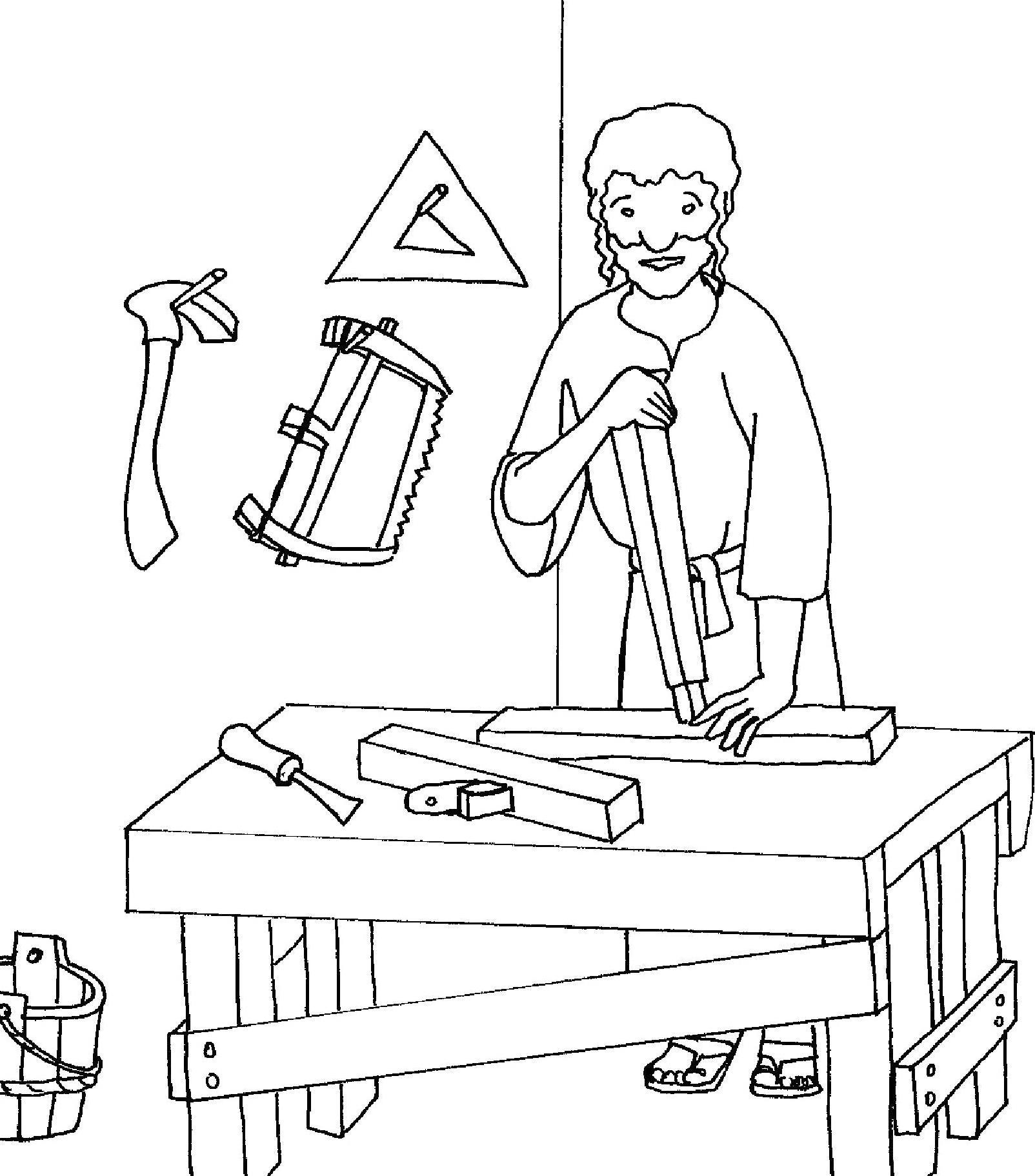 Saint joseph for St joseph coloring page