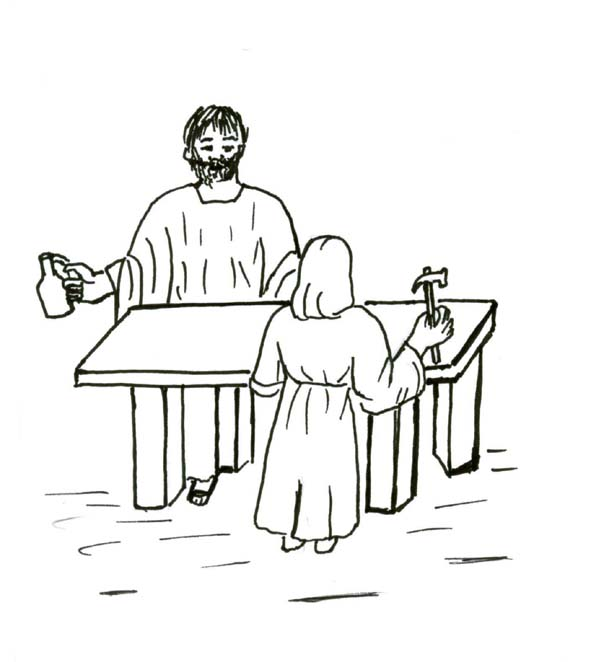 saint_joseph_20 Bible Coloring Pages For Kids