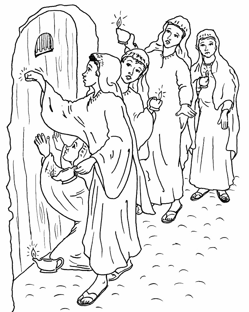 coloring pages 10 virgins - photo#3