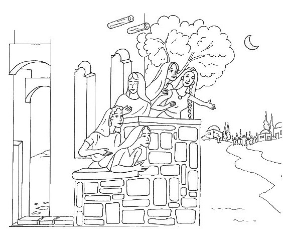 coloring pages 10 virgins - photo#6