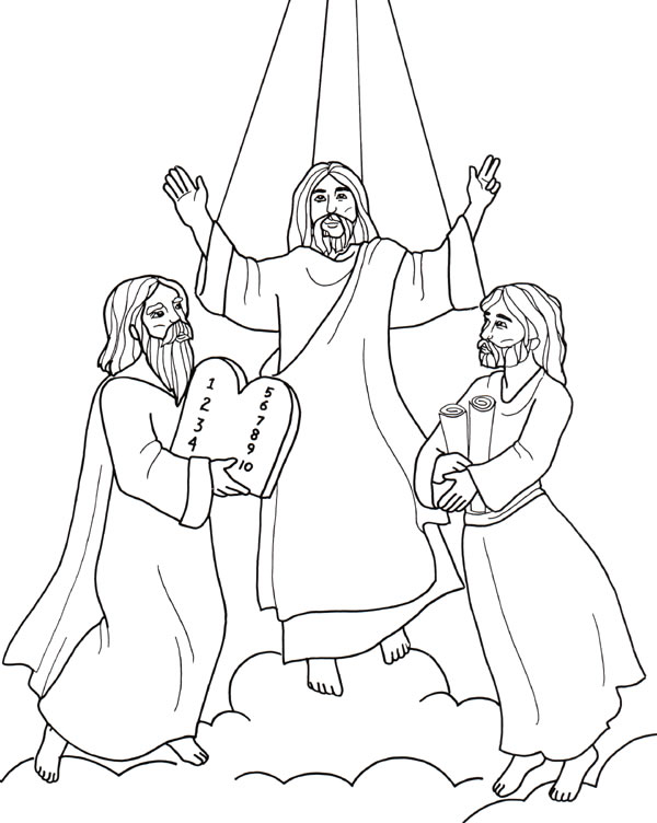 jesuss transfiguration coloring pages - photo#5