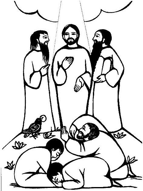 jesuss transfiguration coloring pages - photo#21