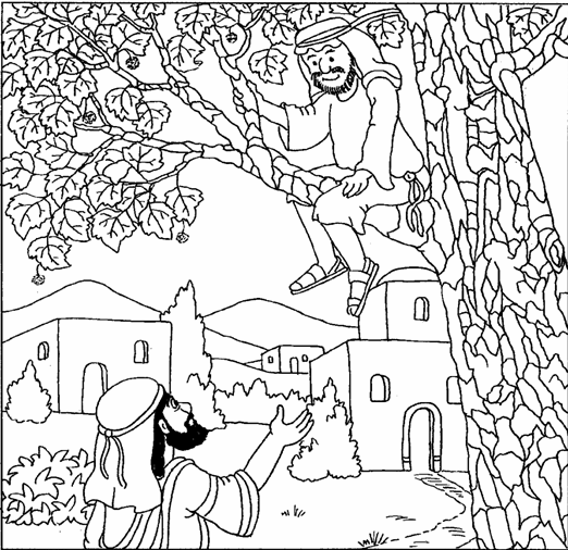 franco zacchaeus coloring pages - photo#21