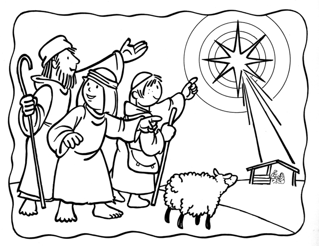 sleeping shepherds coloring coloring pages