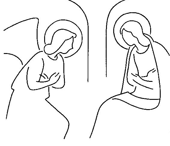 free coloring pages angel and mary images