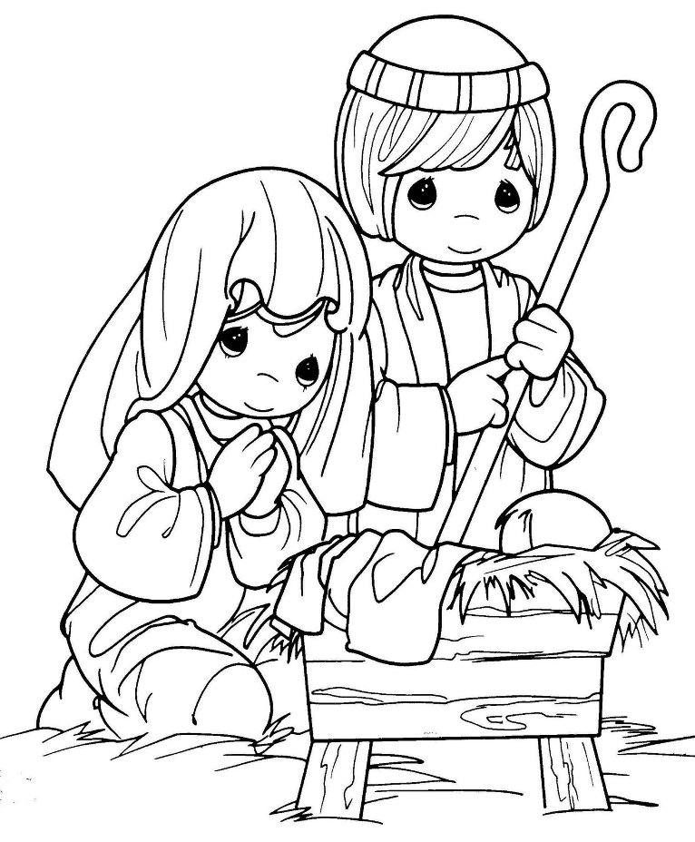 Birth of Jesus Coloring Pages Nativity of Jesus Coloring