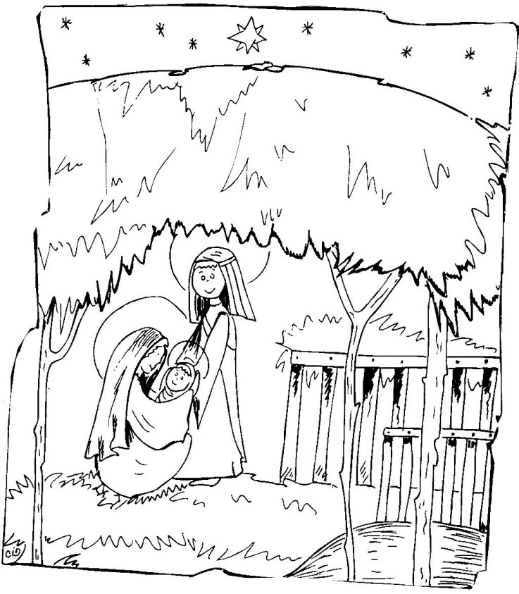 Birth Of Jesus Printable Coloring Pages Coloring Pages