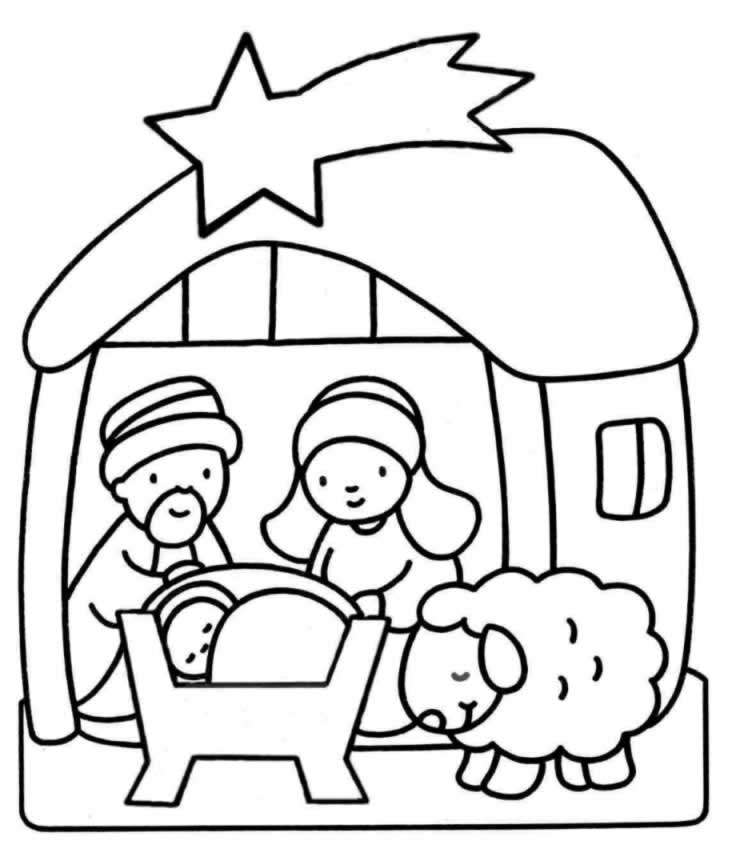 bible coloring pages jesus birth - photo#24