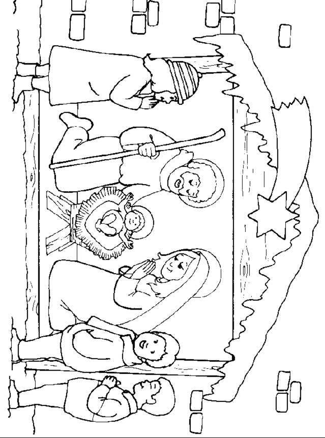 bible coloring pages jesus birth - photo#30