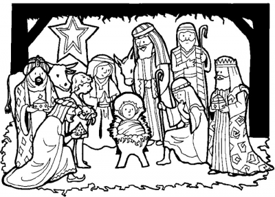 Birth of Jesus Coloring Pages  Nativity of Jesus Coloring pages