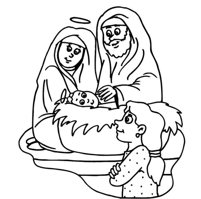 Birth Of Jesus Coloring Pages