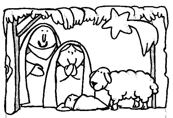 Plus de 1000 id es propos de cr ches sur pinterest - Dibujos del portal de belen para colorear ...