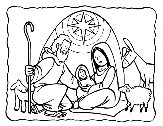 Birth of Jesus Coloring Pages | Nativity of Jesus Coloring pages ...
